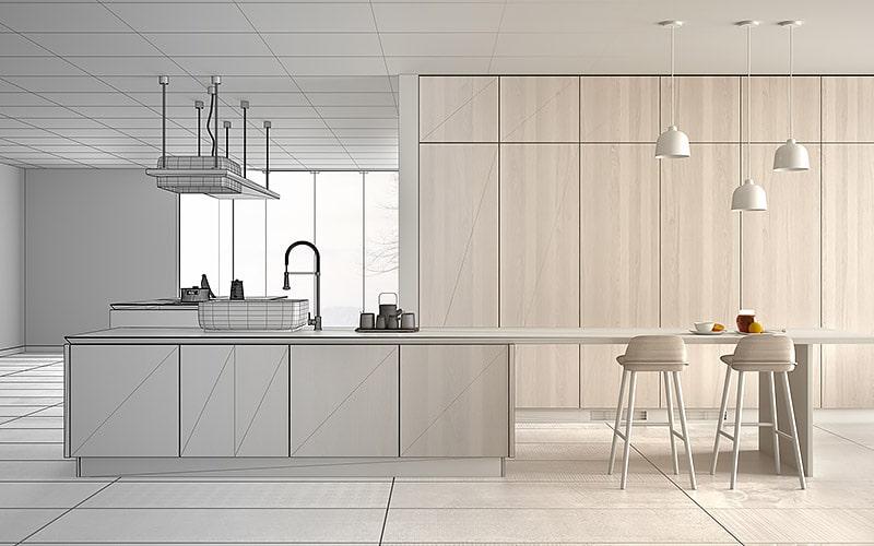 Architect interior designer concept: unfinished project that bec